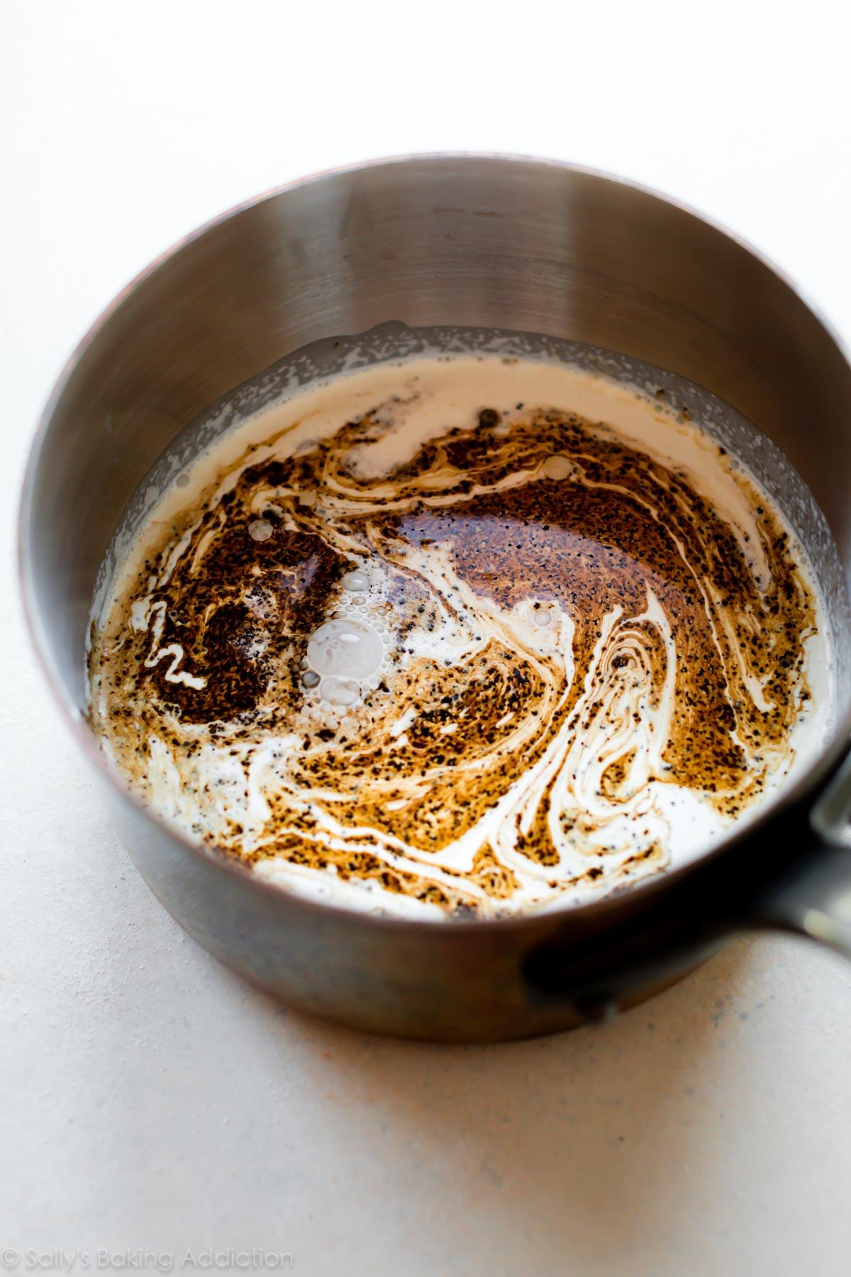 Crème lourde pour crème brûlée sur sallysbakingaddiction.com