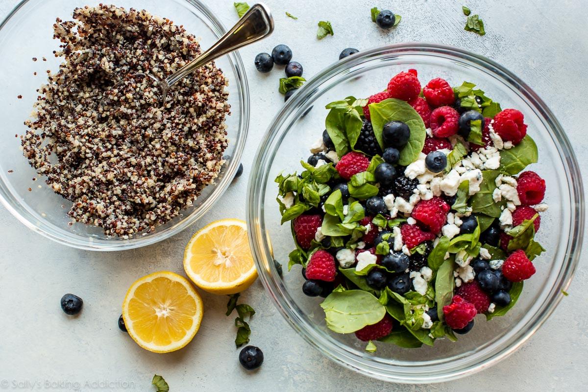 Comment faire une salade de quinoa aux fruits frais sur sallysbakingaddiction.com