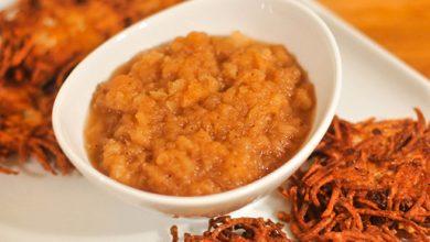 Photo of Recette de compote de pommes au beurre brun et à la cannelle