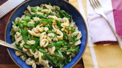 Photo of Recette de pâtes primavera (pâtes aux légumes de printemps)