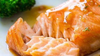 Photo of Saumon glacé au miel et à l'ail