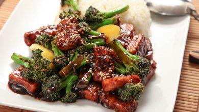 Photo of Recette de tofu sauté croustillant végétalien au brocoli