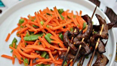 Photo of Brochettes de surlonge vietnamiennes avec recette de salade de carottes épicées
