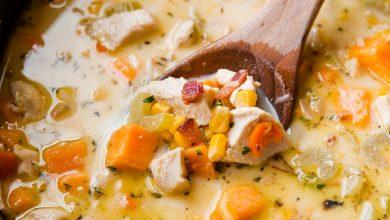 Photo of Soupe crémeuse au poulet et au maïs à la mijoteuse