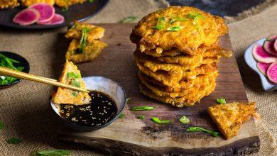 Photo of Crêpes croustillantes au kimchi avec recette de crevettes