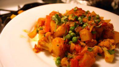 Photo of Dîner ce soir: Recette Chou-fleur-pomme de terre au curry (Aloo Gobhi)