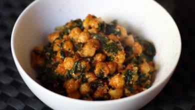 Photo of Dîner ce soir: recette d'épinards marocains et de pois chiches
