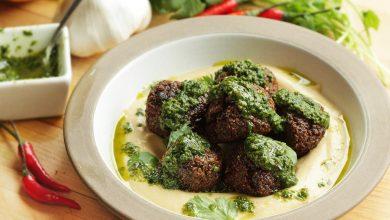 Photo of Falafel aux olives noires et recette de Harissa