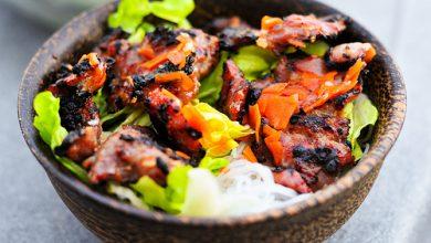 Photo of Griller: Porc vietnamien avec nouilles vermicelles et recette Nuoc Cham
