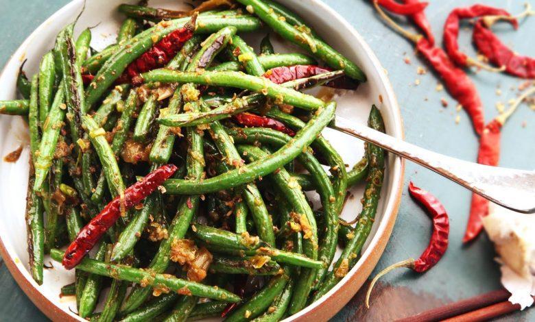 Photo of Haricots verts frits à sec du Sichuan (Gan Bian Si Ji Dou) sans recette de wok