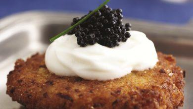 Photo of Latkes au caviar et à la crème de «Joy of Kosher»