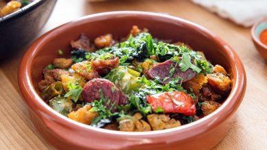 Photo of Migas à l'espagnole avec recette de chorizo, poivrons et chou frisé