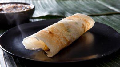 Photo of Recette Masala Dosa (crêpe de riz et de lentilles farcie aux pommes de terre)