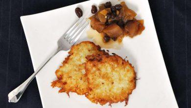 Photo of Recette de Latkes avec pomme et gingembre