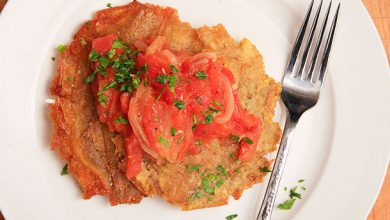 Photo of Recette de Patacones Con Hogao (Plantains frits à la colombienne avec sauce tomate-oignon)