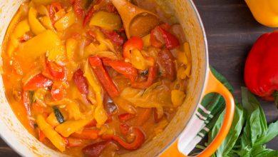 Photo of Recette de Peperonata (poivrons doux à l'huile d'olive, à l'oignon et aux tomates)