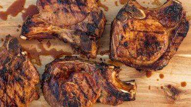 Photo of Recette de côtelettes de porc grillées marinées par adobo