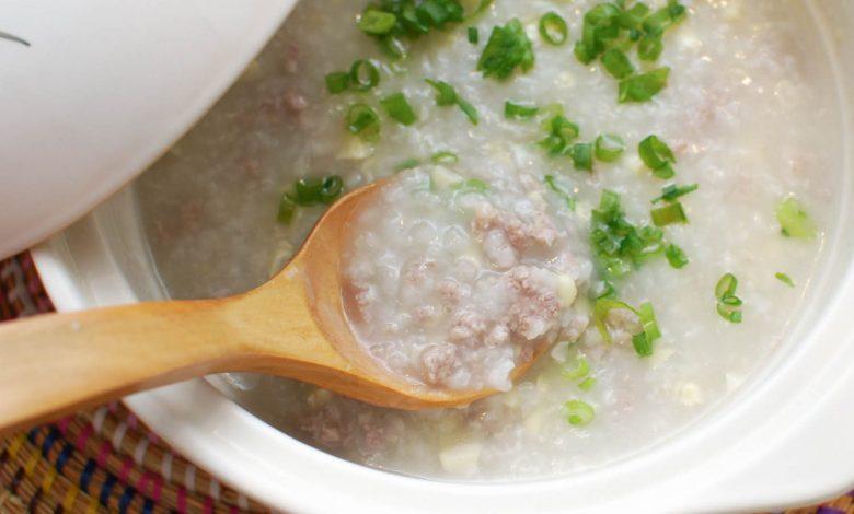 Photo of Recette de porc haché et de maïs congee (bouillie de riz chinois)