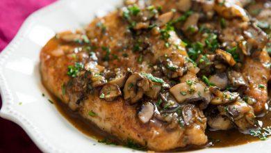Photo of Recette de poulet marsala aux champignons et échalotes