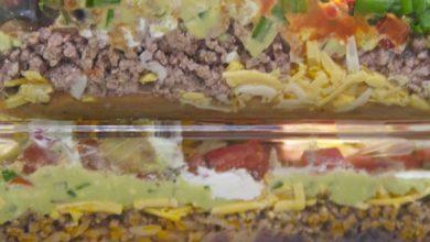 Photo of Recette de trempette classique à 7 couches