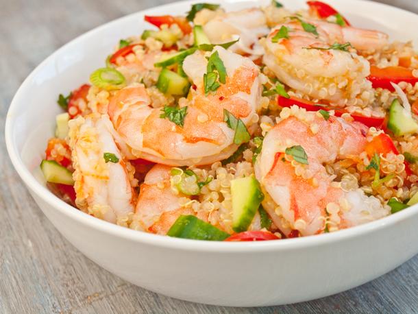 Photo of Salades sérieuses: recette de salade vietnamienne de crevettes et quinoa