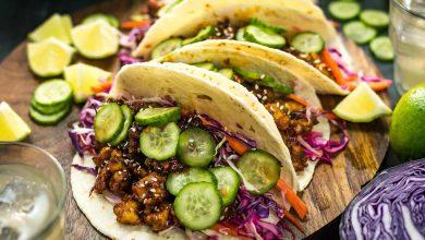 Photo of Tacos croustillants au tofu d'inspiration coréenne avec une recette de salade de chou au citron vert