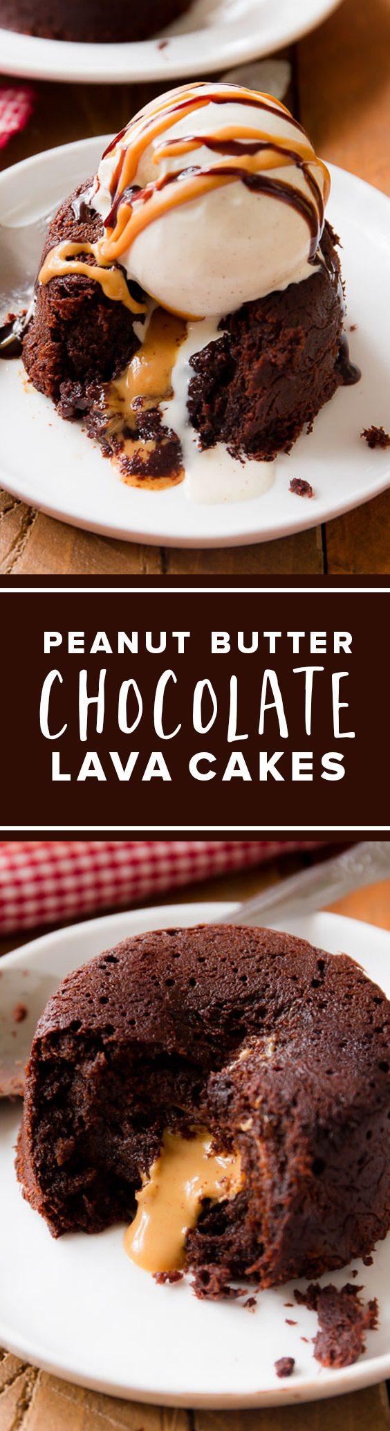 Gâteaux de lave au chocolat et au beurre d'arachide ...