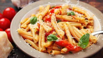 Photo of Recette de pâtes rapides et faciles avec une sauce aux tomates cerises cloquées