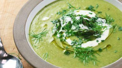 Photo of Recette Velouté aux asperges et à l'estragon (soupe crémeuse aux asperges sans produits laitiers)