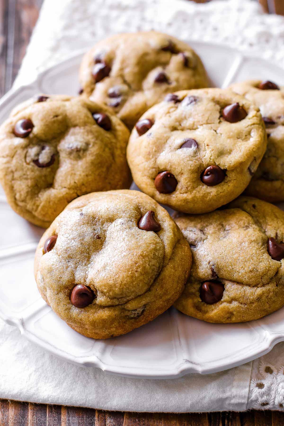 Biscuits aux brisures de chocolat au beurre brun