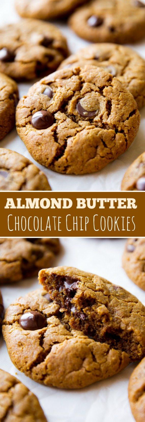 Biscuits aux pépites de chocolat au beurre d'amande sans ...