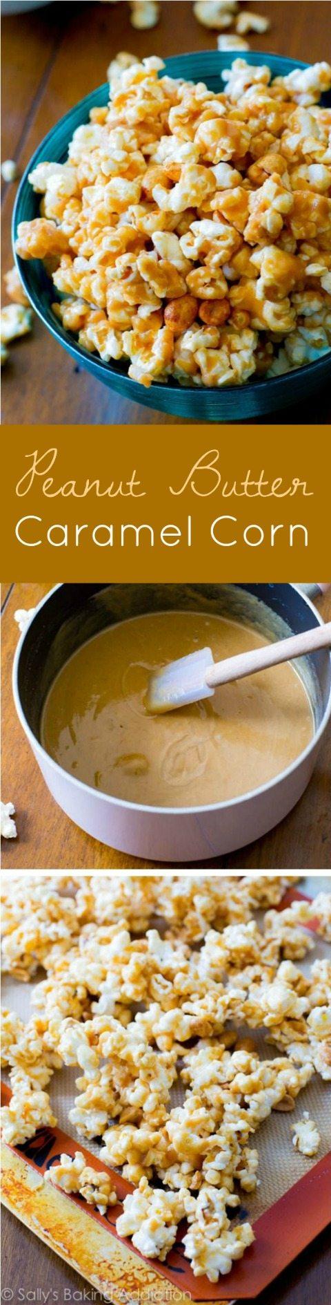 Comment faire du maïs au caramel collant, sucré, salé et complètement irrésistible au beurre d'arachide!