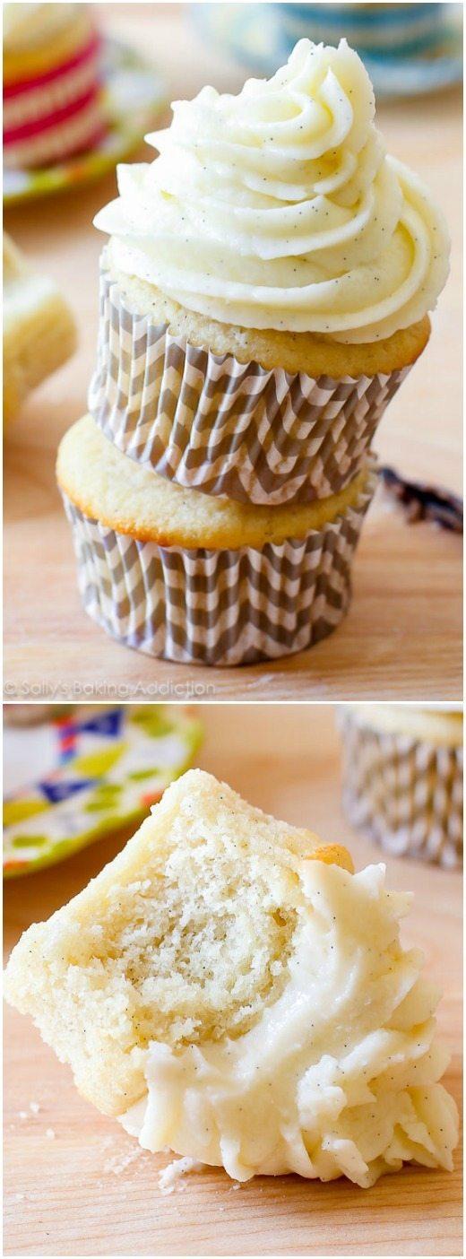 Ma recette préférée maison très vanille cupcake. Fossé que le mélange en boîte, ceux-ci sont 1000% mieux!