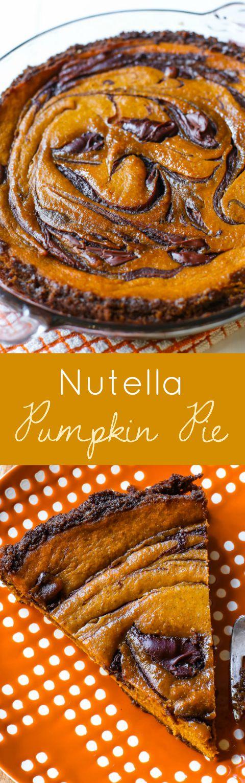 Vous voulez une mise à niveau de la tarte à la citrouille traditionnelle? Essayez ma recette de tarte à la citrouille Nutella cette saison d'automne!
