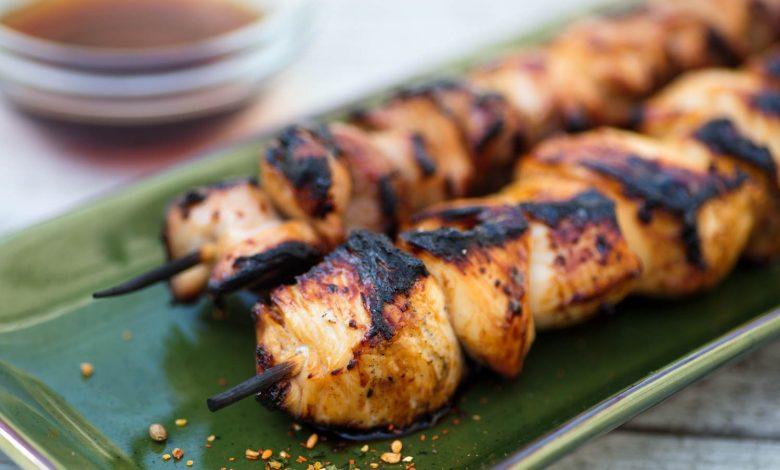 Photo of Brochettes de poulet grillées aigre-douce (Yakitori Nanbansu) Recette