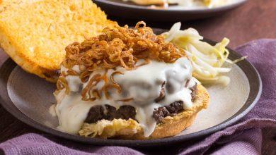 Photo of Mornay et champignons Duxelles Burger avec échalotes croustillantes Recette