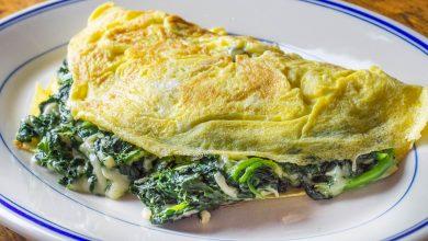 Photo of Omelette florentine aux épinards et fromage recette