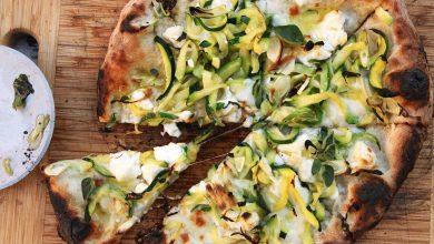 Photo of Pizza aux courgettes, feta, citron et ail Recette