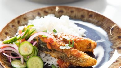 Photo of Recette de poisson frit à la bengali à l'oignon et au curry de tomates (poisson bhuna)