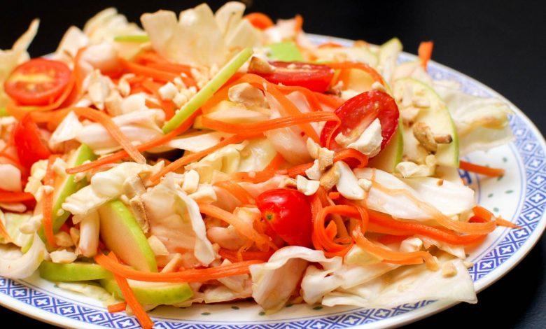 Photo of Recette de salade de chou épicée avec sauce au poisson