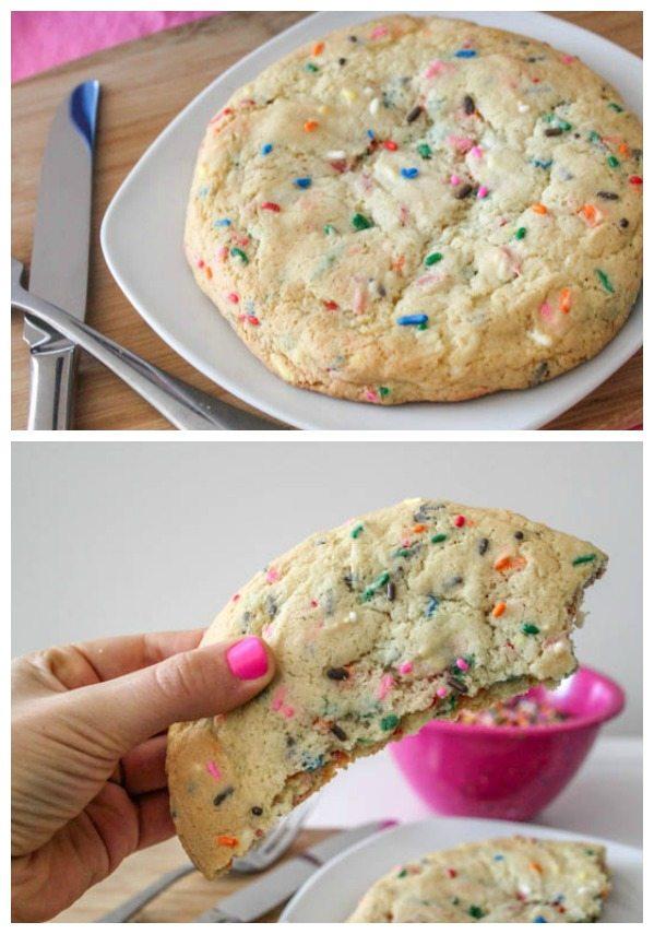 un biscuit géant au sucre