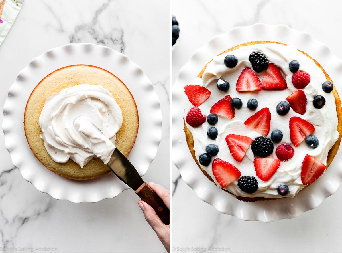 décorer un gâteau aux baies fraîches