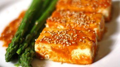 Photo of Tofu grillé avec glace miso et recette d'asperges