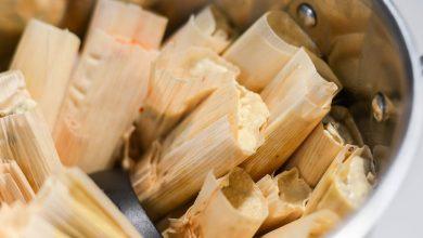 Photo of Tamales au piment rouge et garniture de poulet