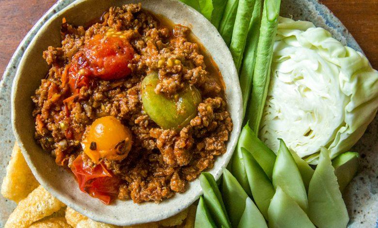 Photo of Nam Prik Ong (trempette thaï au porc et aux tomates)