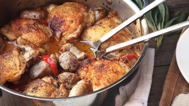 Photo of Scarpariello au poulet (poulet braisé avec saucisse et poivrons)