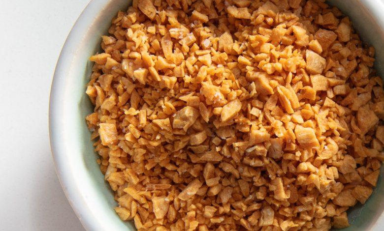Photo of Huile d'ail et d'ail frits croustillants