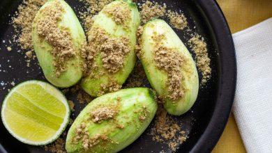 Photo of Mango Verde Con Alguashte (mangue verte salvadorienne avec assaisonnement Pepita)