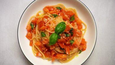 Photo of Spaghetti al Pomodoro Crudo (Spaghetti à la sauce tomate crue sans cuisson)