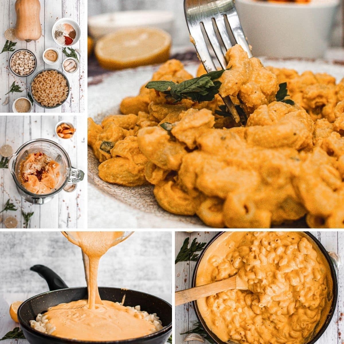 comment faire un collage végétalien de macaroni au fromage et à la citrouille